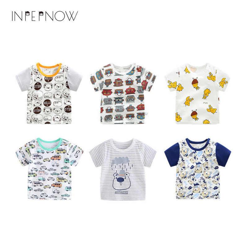 ec7d8cd3 INPEPNOW 2018 New Fashion Baby Boys Tshirt Girls Cotton Print Short Sleeve T -shirt Children