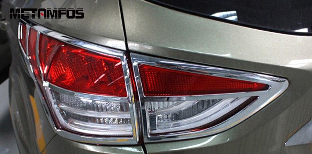 2-Для Ford Kuga Escape 2013 2014 2015 5dr хэтчбек хромированный чехол для Taillamp накладка задний свет лампы капот протектор внешние аксессуары смотреть на Алиэкспресс Иркутск в рублях