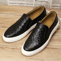 mens personality stage nightclub dress breathable soft leather shoes weave flat oxford shoe platform slip on loafer zapatos male