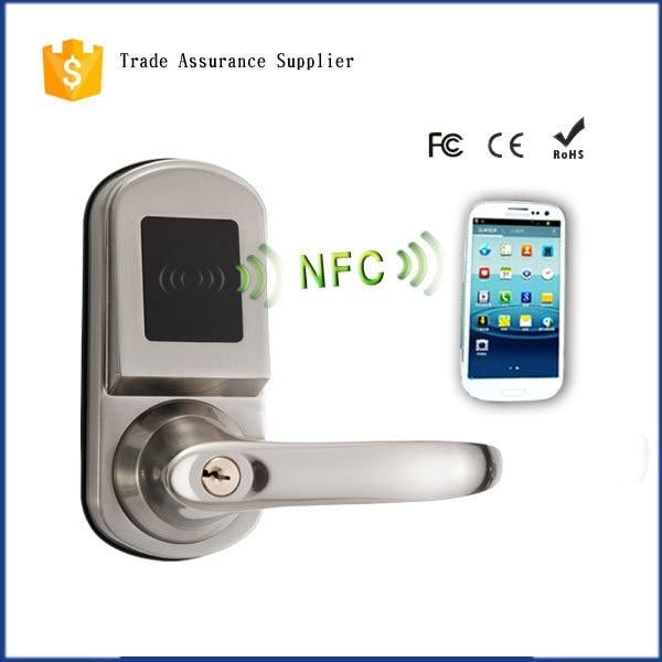 Automatically Keyless Hotel Lock Smart Phone Open NFC Door Lock
