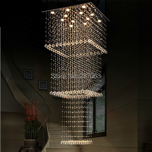 free shipping wholesales large square crystal chandelier modern design lustre crystal staircase. Black Bedroom Furniture Sets. Home Design Ideas
