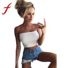 5618cd941c (Ship from US) 2019 Women Crop Tops Strapless Elastic blusas Boob Bandeau  Tube Tops Bra Lingerie Breast Wrap Solid Tank bras top lingerie New