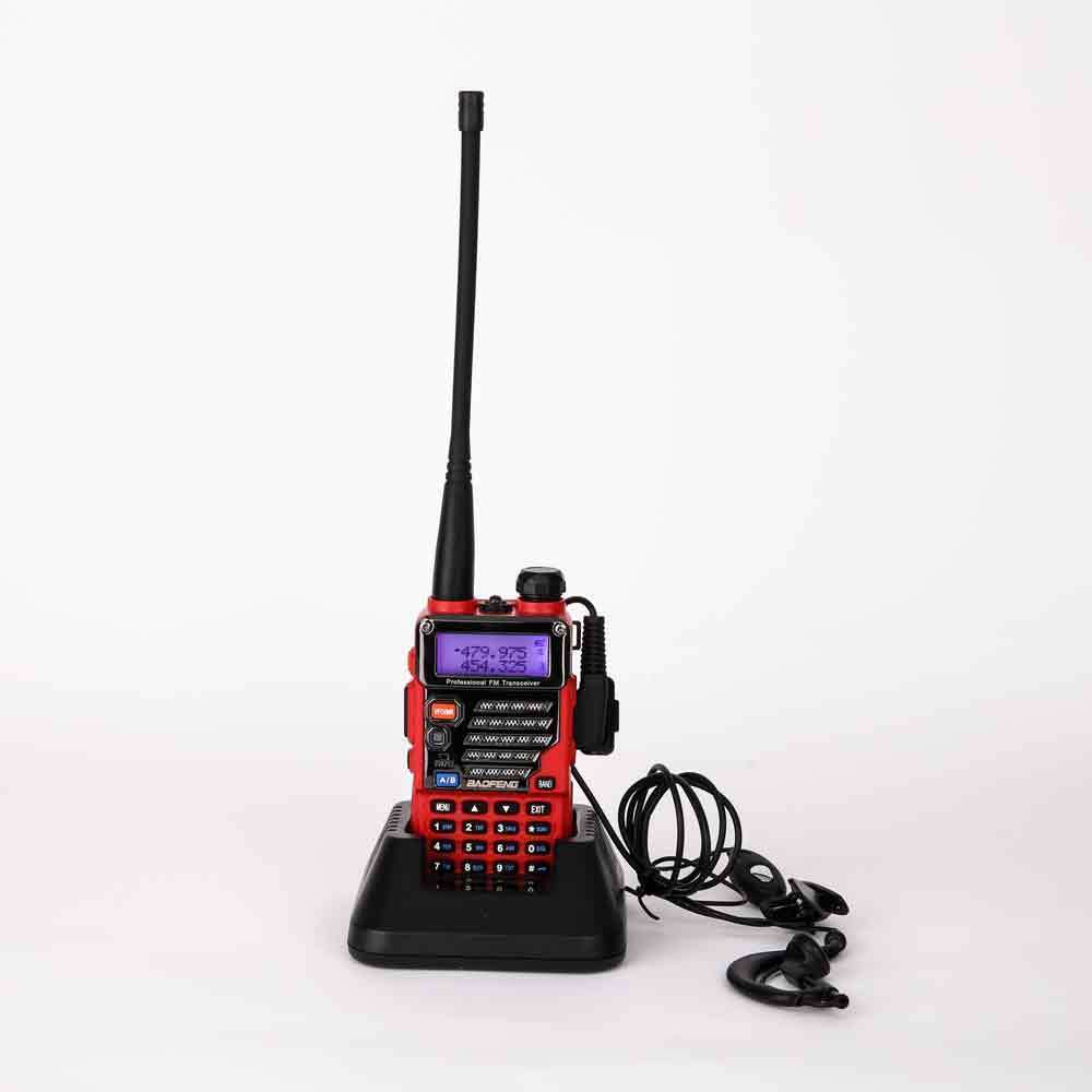BAOFENG RED UV-5RB 5R PLUS New Version 136-174/400-520MHZ Dual Band Radio