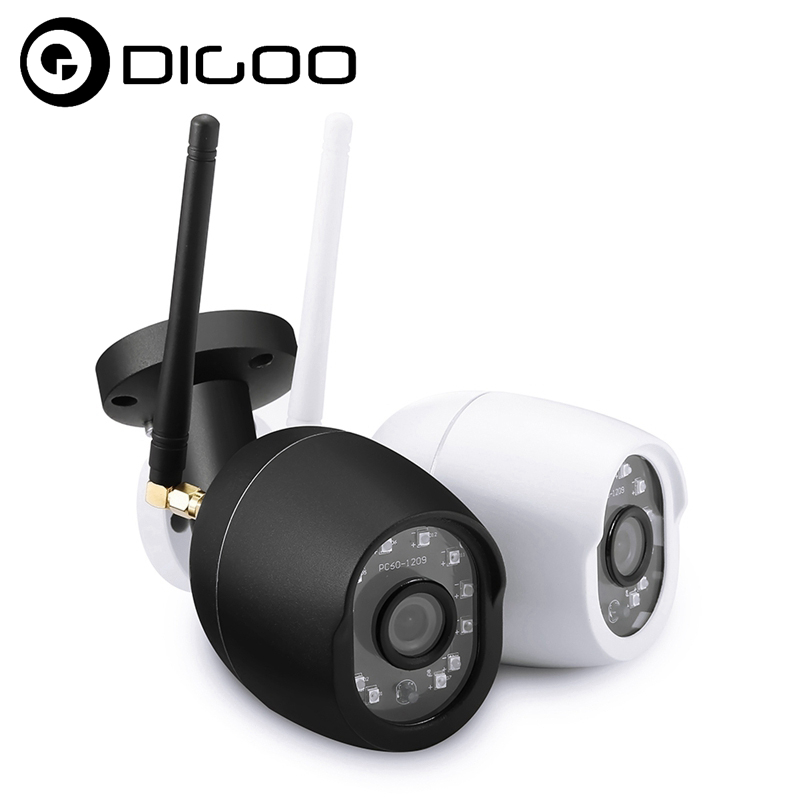 Digoo DG-W01f Cloud Storage Consumer Camcorder 3.6mm Lens 720P 75 Degree Waterproof Outdoor WIFI IR Motion Detection Camera