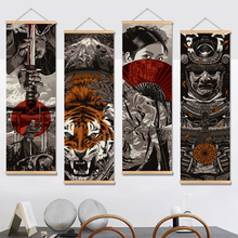 Japan Samurai Vintage Poster En Prints Scroll Schilderen Canvas Wall Art Foto Woonkamer Slaapkamer Boerderij Decoratie
