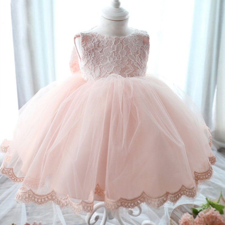 New 2016 Fshion Flower Girl Dress Kids Clothing Party Wedding Birthday Girls Dresses Baby Girl White Pink Rose Dress new 2016 fshion flower girl dress kids clothing party wedding birthday girls dresses baby girl white pink rose dress