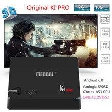 Origina MECOOL KI PRO TV Boîte KI PRO S2 + T2 DVB Amlogic S905D Quad 2G + 16G Android Soutien DVB-T2 et S2/DVB-T2/DVBS2 Set Top Box