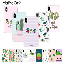 MaiYaCa Korea Fashion Stripe Cactus on sell Phone Case for Apple iphone 11 pro XS 55s SE XR 66S 7 8 X Plus XS MAX Back Cover(China)