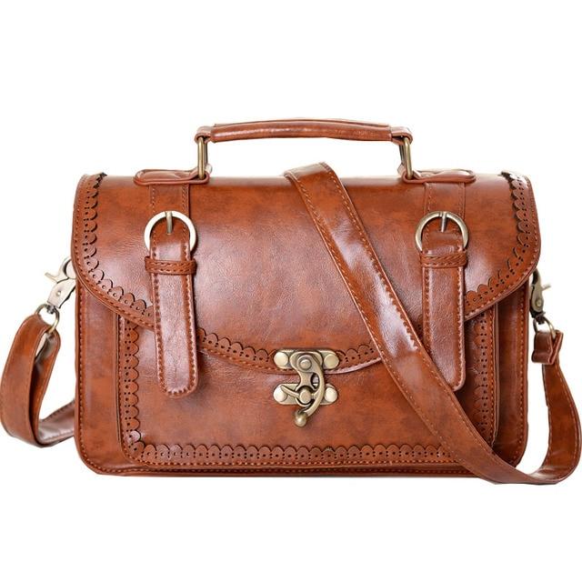 2016 Fashion British Style Women Handbag Spanish Design Female Shoulder Bag Retro Carved Lady Crossbody Bag Pu Leather XA1651C