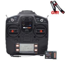 Microzone MC8B 2,4G 8CH transmisor de Control remoto y sistema de radio receptor MC8RE 8CH PARA AVIONES RC helicóptero drone de ala fija