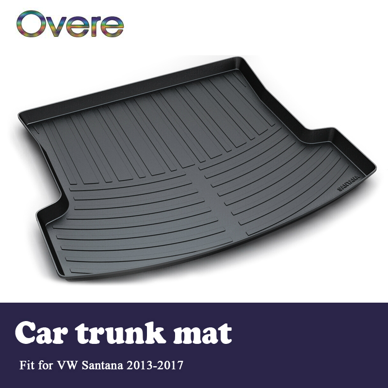 Overe 1Set Car Cargo rear trunk mat For VW Santana Sedan 2013 2014 2015 2016 2017 Boot Tray Waterproof Anti-slip mat Accessories dedicated to the for volkswagen new jetta santana jetta all trunk mat tiguan mogotan ling of car trunk mattrunk boot cargo mat