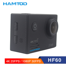 hot deal buy hamtod hf60 4k wifi action camera 2.0 inch lcd display  diving waterproof mini camcorder sports cameras 120 degree camera