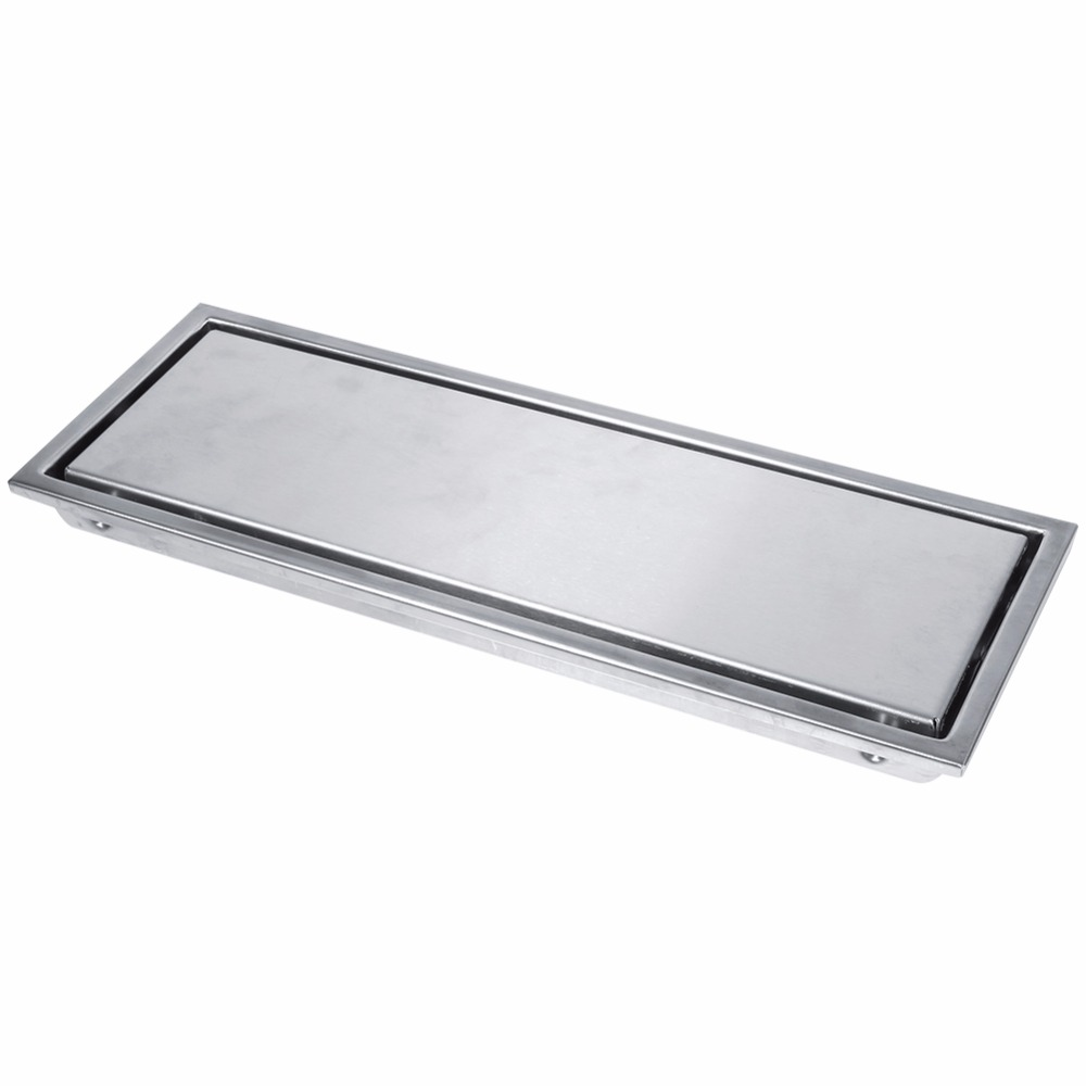 Image 3 - 1 Set Floor Drains Stainless Steel Linear Shower Floor Drains Tile Insert Drain Channel for Bathroom Kitchen Channel Tile Drains-in Drains from Home Improvement