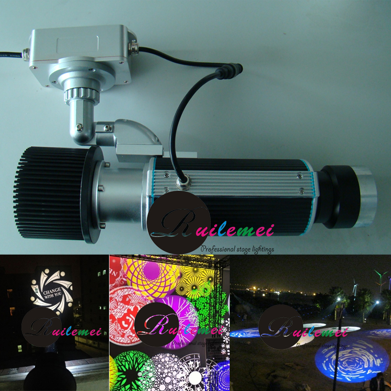 Exterior gobo projector light 30w led custom glass patterns logo projection advertising for Exterior 400 image projector price