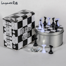 Fashion Nail Polish Shelves Nail Art Holder Tools Chess Board Magnetic Crystal Nail Tips Practice Salon Display Stand Nails