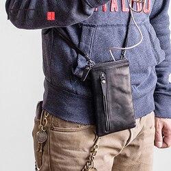 AETOO Kopf rinds männlichen kleine umhängetasche freizeit trend leder weibliche handy tasche ändern tasche mit karte position