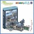 3D Модель Головоломка Бумаги Игры Diy Замок Пелеш Румынии Модель