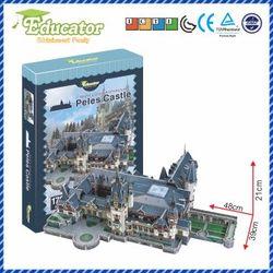 Rompecabezas 3D modelo de papel juego Diy Peles Castillo modelo de Romania