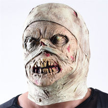 Halloween Horror Mask Mummy Mask Disgusting Rot Face Headgear Zombie Costume Party Haunted House Horror Props Frighten People(China)