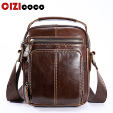 купить Cizicoco 100% Genuine Leather Messenger Bag Men's Shoulder Bags Crossbody Bag for Men ipad flap Small Shoulder Handbags Male Bag в интернет-магазине