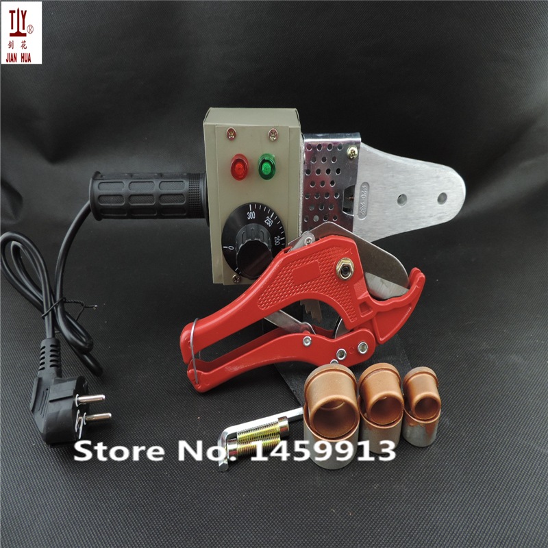 Free shipping with 42mm pipe cutter 20-32mm plastic tube pipe welder 220V 600W hot melt machine, ppr pipe welding machine free shipping plumber tool with 42mm cutter 220v 800wplastic water pipe welder heating ppr welding machine for plastic pipes