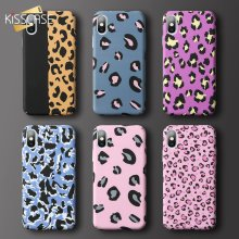 KISSCASE Luminous Phone Case For Huawei p30 P20 P10 Lite Pro Mate 10 20 lite P Smart Leopard Pattern Case For Honor 8X 10 9 lite(China)