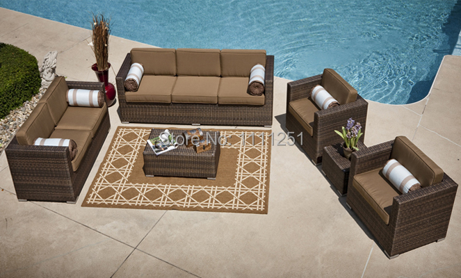 The Taryn Collection 6 Piece All Weather Wicker Deep