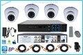 4CH HDMI VGA AHD DVR 720 P HD Câmera de Vigilância de Segurança Interior sistema de 4 Canais CCTV H.264 P2P AHD DVR KIT COM XMEye app