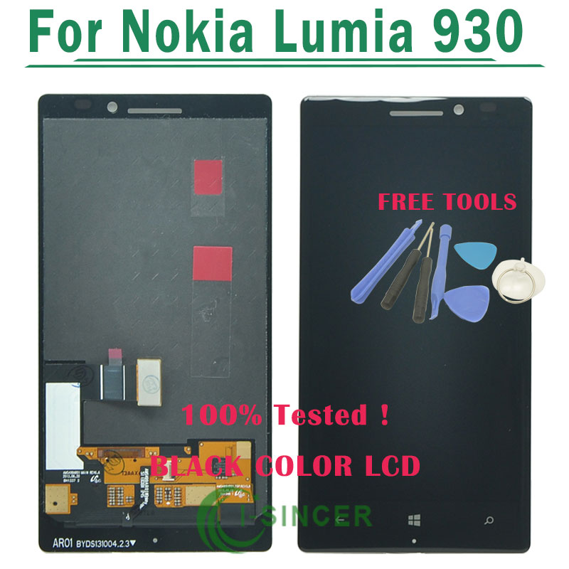 1/PCS For Nokia Lumia 930 LCD Display with Touch Screen Digitizer Assembly Black + tools Free Shipping