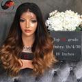 Top 8A Grade 180% 3 Tone 1b/4/30 Ombre Human Hair Wig Full Lace Human Hair Wigs For Black Women Ombre Lace Front Human Hair Wigs