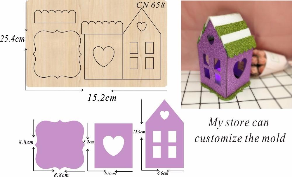 Dom strona dekoracji formy do cięcia drewna akcesoria drewniane die Regola ze stali die Misura w Matryce do wycinania od Dom i ogród na  Grupa 1