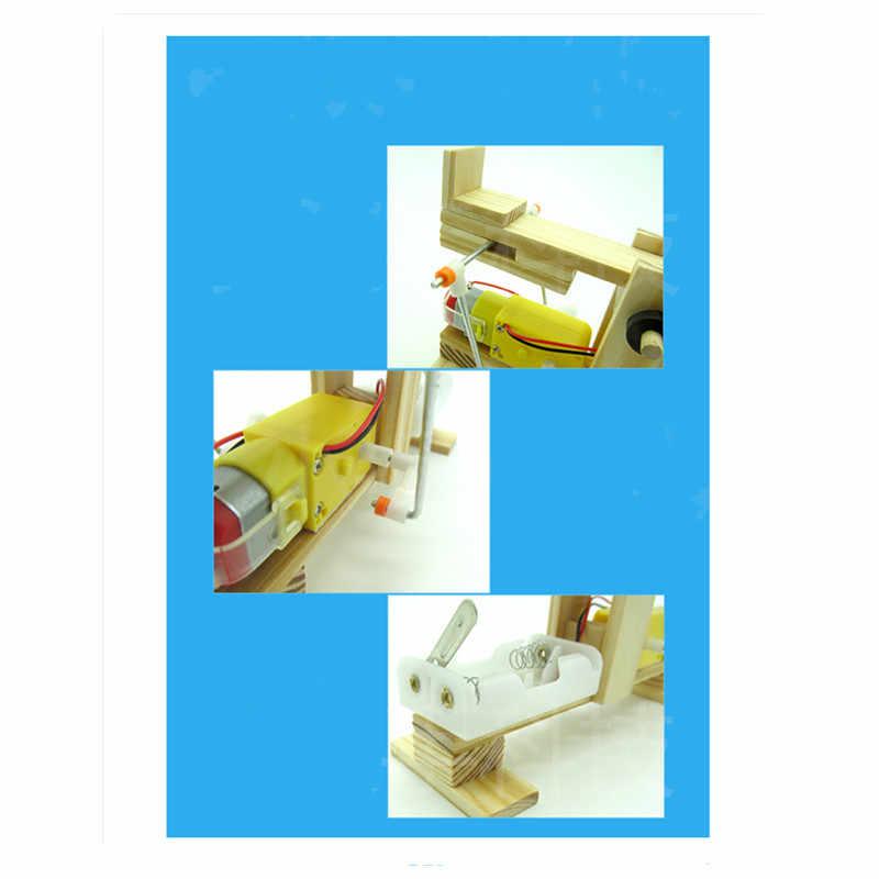 Happyxuan DIY Электрический качели Технология производственные материалы Вышивка Крестом Пакет научный эксперимент деревянная собраны модели образование Игрушечные лошадки