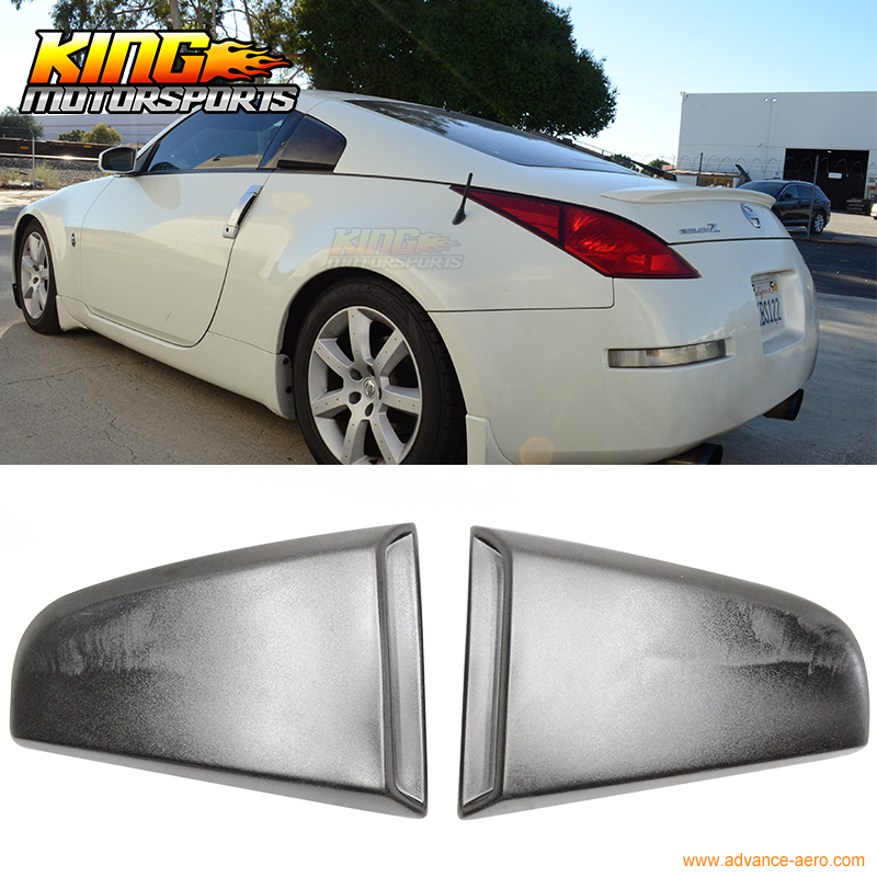 For 03-08 Nissan 350Z Window Scoop Louvers Covers Xenon Style Polyurethane 2 Pcs USA Domestic Free Shipping Hot Selling for 97 98 99 nissan maxima 4 pcs tail lights red clear usa domestic free shipping
