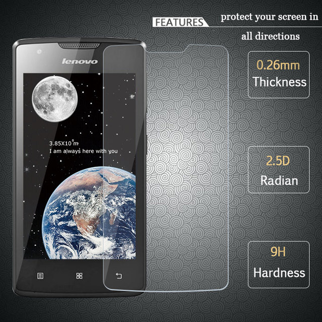 FOR Lenovo A1000 Tempered Glass 25D 9H 03mm Original Premium Screen Protector Protective Film