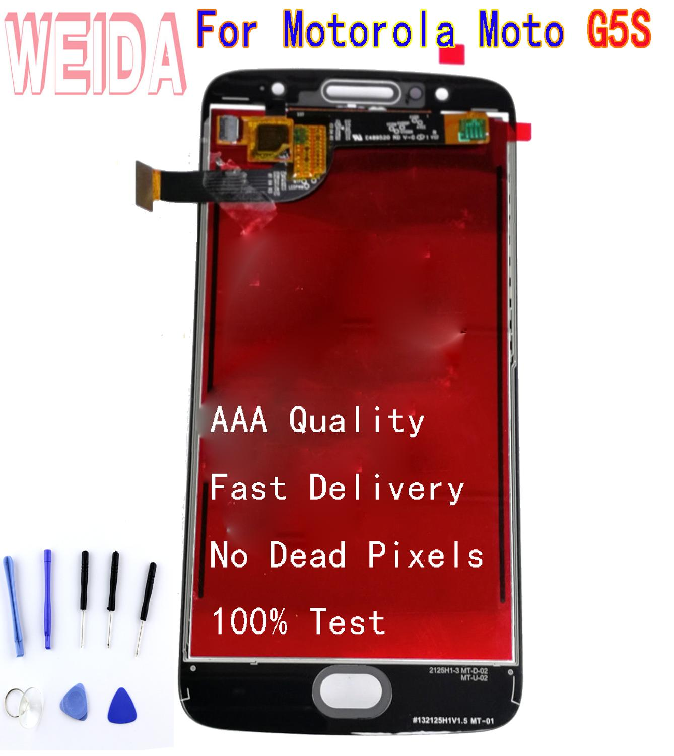 For Motorola Moto G5S <font><b>XT1792</b></font> XT1793 XT1794 XT1795 <font><b>LCD</b></font> Display Touch Screen Digitizer Assembly Without Frame with free tool image