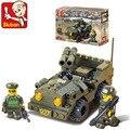 Sluban B5800 Army Off-road vehicles 3D Construction Plastic Model Building Blocks Bricks
