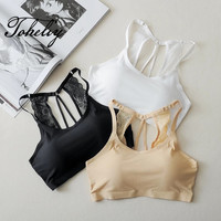 Ice Silk Without Trace Underwear Breathable Thin Shoulder Strap Lace Wrapped Chest Beautiful Belts Chest Pad