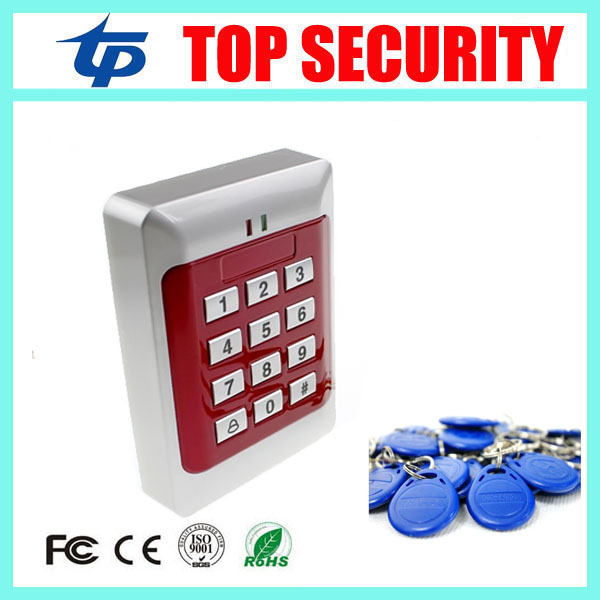 Good quality cheap price standalone RFID card 125KHZ ID card access control system with keypad smart card door access control proximity rfid 125khz em id card access control keypad standalone access controler 2pcs mother card 10pcs id tags min 5pcs