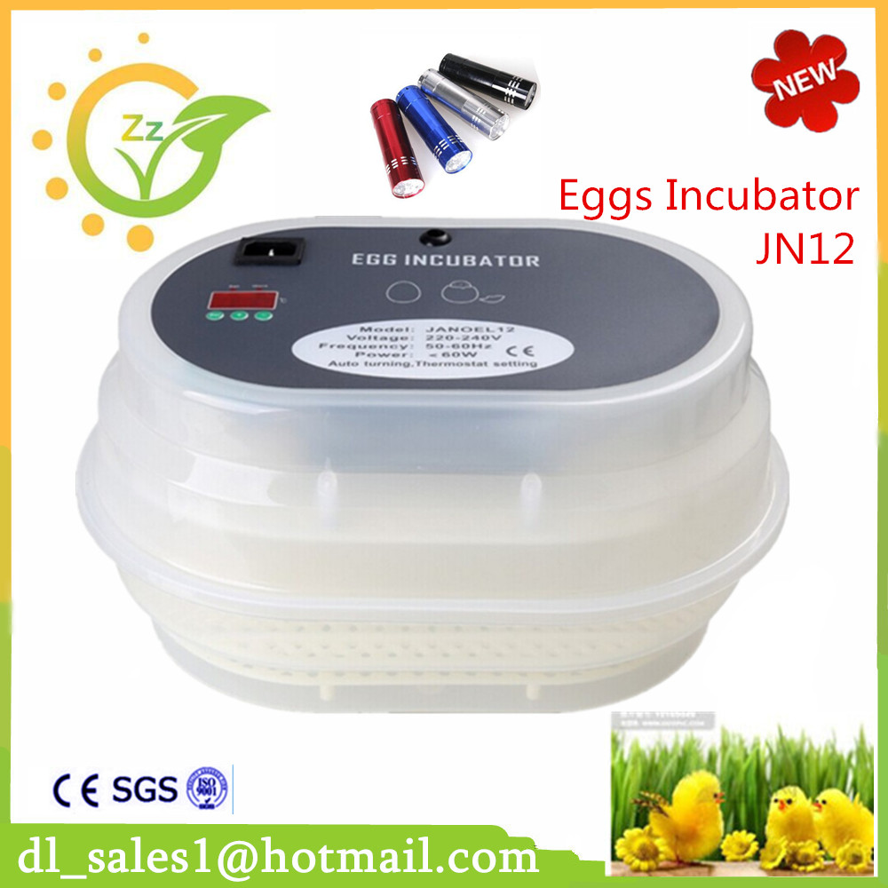 Brand New 1Pcs Automatic Egg Duck Poultry Quail Duck Incubators Hot Sale Mini 12 Chicken Incubator top sale household farm egg incubators 24 egg incubators for led display turner for sale