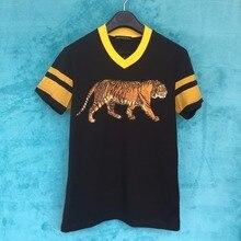 Seestern markenkleidung druck tier tiger männer t-shirt