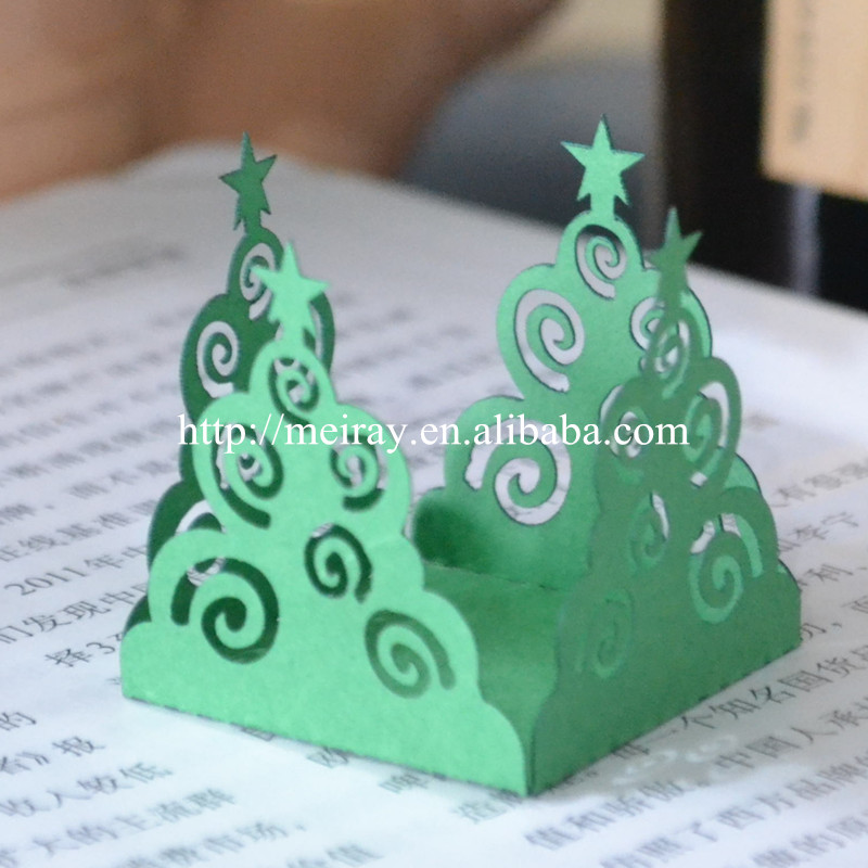 Home Cake Decorating Supply Co: Hot Christmas Tree Mini Cupcake Wrappers Wedding Party
