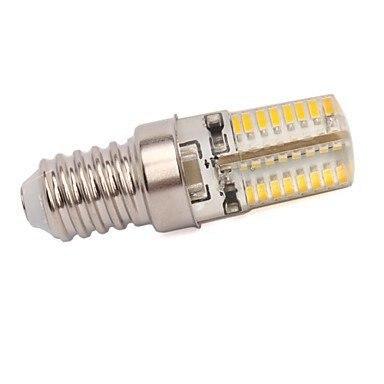 Купить с кэшбэком 4 X E14 4 W 64 SMD 3014 300 LM Warm White Corn Bulbs  220V or 110v