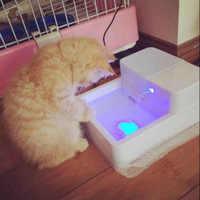 Nowy sześciennych światła dla zwierząt domowych dozownik wody kot automat do wody dla psów automatyczna cyrkulacja Pijący wodę wodospad dostaw
