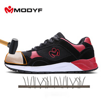 Modyf Men Steel Toe Boots Lightweight Climbing Outdoor Shoes Sock Absorbtion Outsole Design Puncture Proof Protective