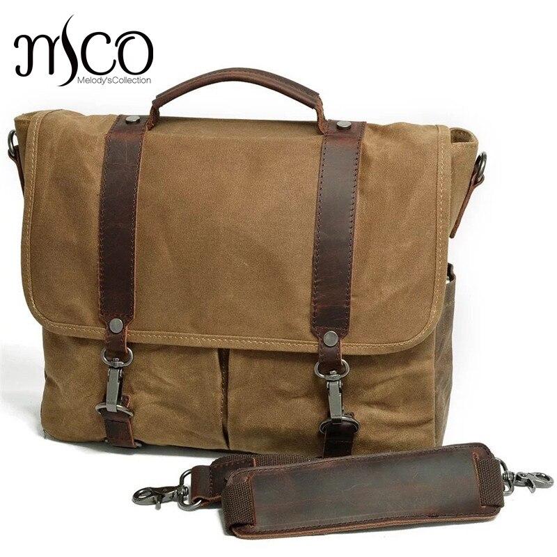 Brand Canvas Men's Messenger Bags Waterproof Travel Male Shoulder Bag Casual Crossbody Bag Computer Handbag Laptop bag