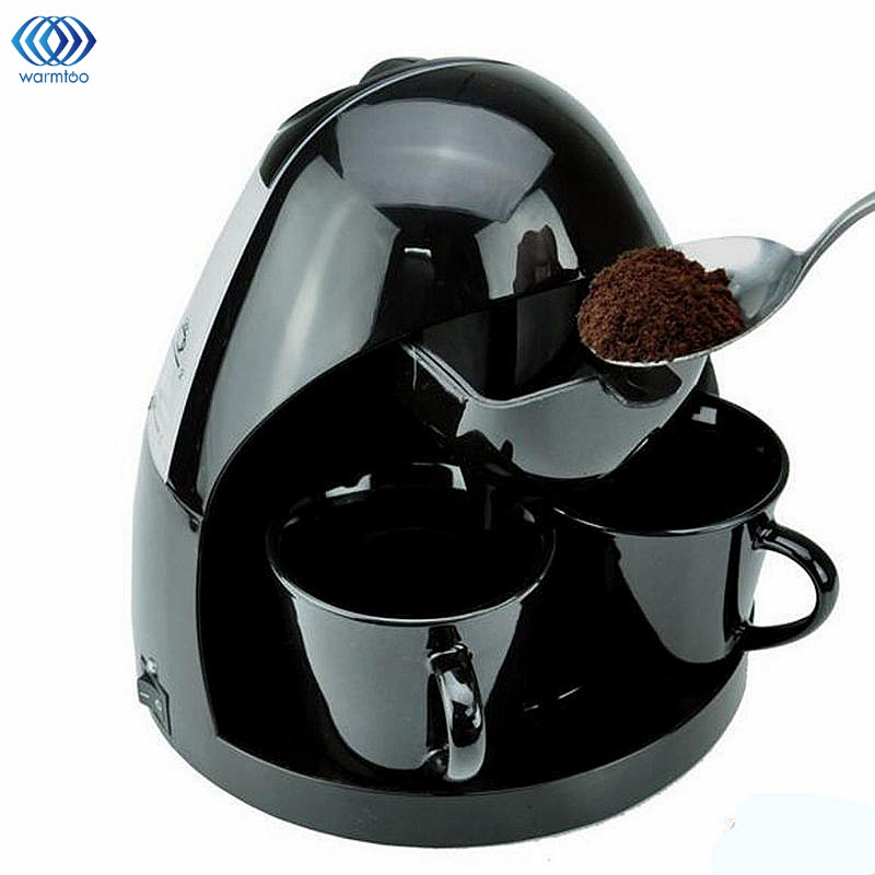 2Cups Drip Type American Coffee Machine Fully Automatic Heat Preservation Type Tea Brewing Maker Household Kitchen Appliances cukyi american coffee machine tea boiler automatic insulation drip type 2 persons portable washable high quality ceramic cup