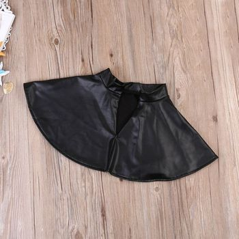 New 2PCS Toddler Kids Girl Clothes Set Summer Short Sleeve Mini Boss T-shirt Tops + Leather Skirt Outfit Child Suit New 5