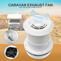 WARMTOO 1Pcs 12V RV Energy saving Motorhome Roof Vent Ventilation Cooling Exhaust Fan Noiseless For Homes Trailer Travel Motor