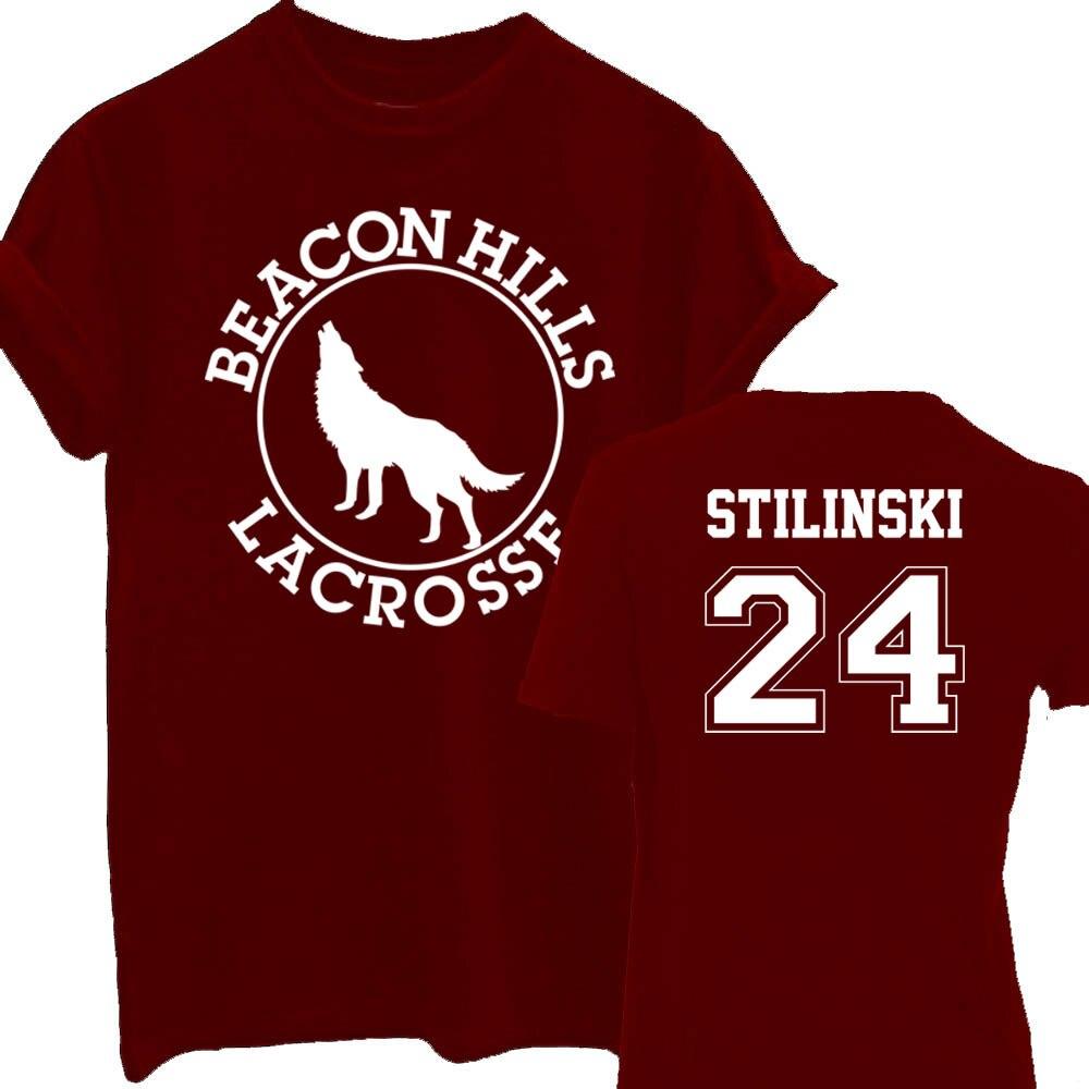 BEACON HILLS LACROSSE T-shirt Camiseta Teen Wolf Stiles Stilinski 24 Lahey 14 Summer Top ...