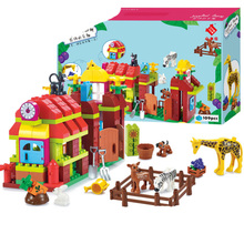 Big Size Diy Happy Farm Zoo With Animals Set Compatible Legoingly Duploe Blocks Bricks Toys For Children Birthday Kid